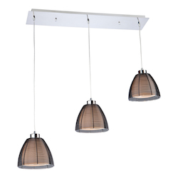 Artcraft San Jose 3 Light  Black Island Light