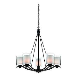 Artcraft Andover  5 Light  Oil Rubbed Bronze Chandelier