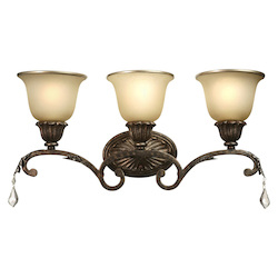 Artcraft Florence 3 Light  Oiled Bronze Bathroom Vanity