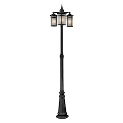 Artcraft St. Moritz 3 Light  Black Outdoor Light