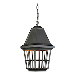 Artcraft Castille 1 Light  Black Outdoor Light