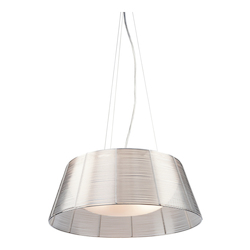 Artcraft San Jose 3 Light  Silver Pendant