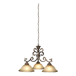 Artcraft Florence 3 Light  Oiled Bronze Chandelier