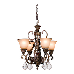 Artcraft Florence 4 Light  Oiled Bronze Chandelette