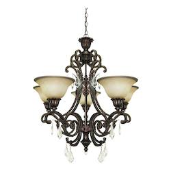 Artcraft Florence 5 Light  Oiled Bronze Chandelier