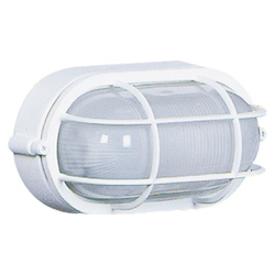 Artcraft One Light White Semi-Clear White Glass Marine Light
