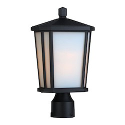 Artcraft Hampton 1 Light  Black Outdoor Post Light