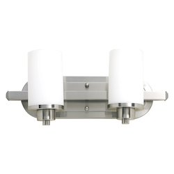 Artcraft Parkdale 2 Light  Polished Nickel Bathroom Vanity