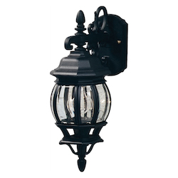 Artcraft One Light White Clear Glass Wall Lantern