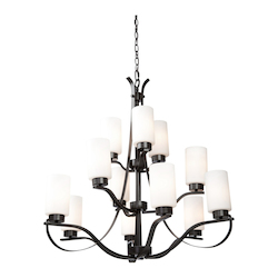 Artcraft Russell Hill 12 Light  Oil Rubbed Bronze Chandelier