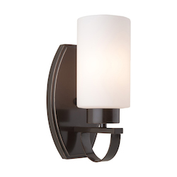 Artcraft Russell Hill 1 Light  Oil Rust bbed Bronze Wall Bracket