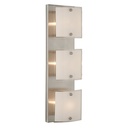 Artcraft Brentwood 3 Light  Brushed Nickel Bathroom Vanity