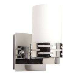 Artcraft Chrome 1 Light Bathroom Fixture From The Seattle Collection
