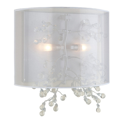 Artcraft Two Light Chrome Organza Shade Wall Light