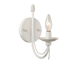 Artcraft Wrought Iron 1 Light  Antique White Wall Bracket