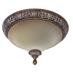 Artcraft Vienna 2 Light  Bronze Flush Mount