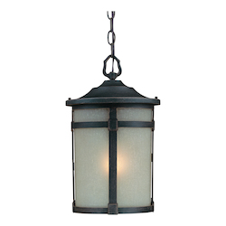 Artcraft St. Moritz 1 Light  Bronze Outdoor Pendant Light
