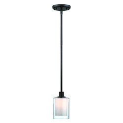 Artcraft Andover  1 Light  Oil Rubbed Bronze Pendant