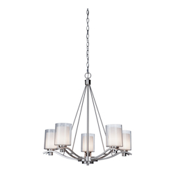 Artcraft Andover  5 Light  Polished Nickel Chandelier