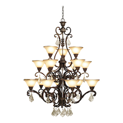 Artcraft Florence 18 Light  Oiled Bronze Chandelier