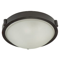 Artcraft Boise 2 Light  Oiled Bronze Flush Mount