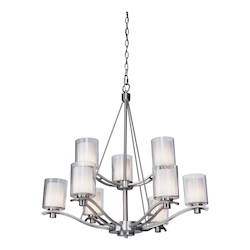 Artcraft Andover  9 Light  Polished Nickel Chandelier