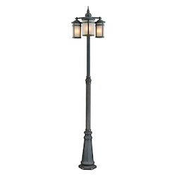 Artcraft St. Moritz 3 Light  Bronze Outdoor Light