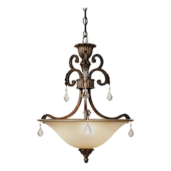 Artcraft Florence 3 Light  Oiled Bronze Pendant