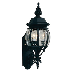 Artcraft Classico 3 Light  Black Outdoor Wall Light