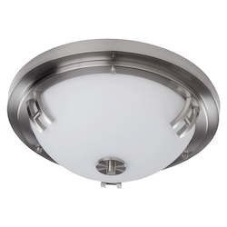 Artcraft Andover  2 Light  Polished Nickel Flush Mount