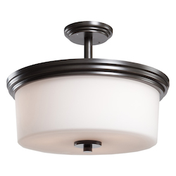 Artcraft Russell Hill 3 Light  Oil Rubbed Bronze Flush Mount
