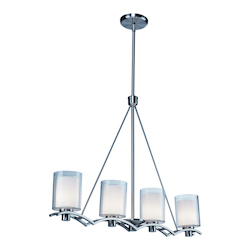 Artcraft Andover  4 Light  Polished Nickel Island Light