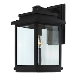 Artcraft Fremont 1 Light  Black Outdoor Light