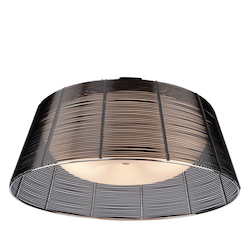 Artcraft San Jose 3 Light  Black Flush Mount