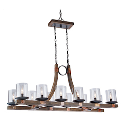 Artcraft Hockley 12 Light  Chrome Island Light