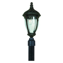 Artcraft Anapolis 1 Light  Oil Rubbed Bronze Outdoor Post Light