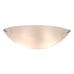 Artcraft  3 Light  Chrome Flush Mount