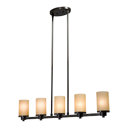Artcraft Parkdale 5 Light  Oil Rubbed Bronze Island Light