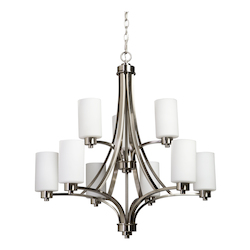 Artcraft Parkdale 9 Light  Polished Nickel Chandelier