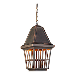 Artcraft Castille 1 Light  Rust  Outdoor Light