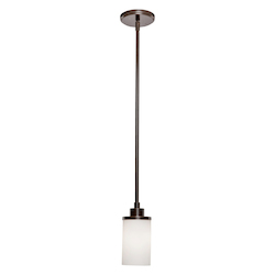 Artcraft Parkdale 1 Light  Oil Rubbed Bronze White Glass Pendant