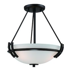 Artcraft Andover  2 Light  Oil Rubbed Bronze Semi Flush