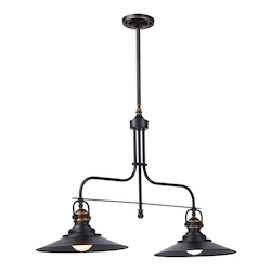Artcraft Heath 2 Light  Bronze Island Light