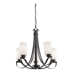 Artcraft Russell Hill 5 Light  Oiled Bronze Chandelier