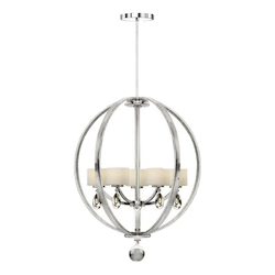Artcraft Piccadilly 5 Light  Chrome Chandelier