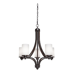 Artcraft Parkdale 5 Light  Oiled Bronze Chandelier