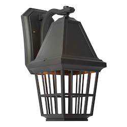 Artcraft Castille 1 Light AC8962BK Black Outdoor Light