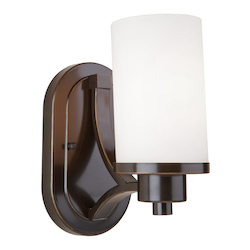 Artcraft Parkdale 1 Light  Oil Rubbed Bronze White Glass Wall Bracket