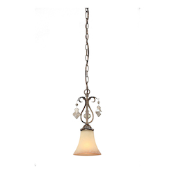 Artcraft Vienna 1 Light  Bronze Pendant