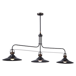 Artcraft Heath 3 Light  Bronze Island Light